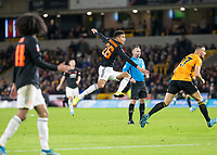 4th January 2020; Molineux Stadium, Wolverhampton, West Midlands, England; English FA Cup Football, Wolverhampton Wanderers versus Manchester United; Mason Greenwood of Manchester United taking a shot at goal but goes high and wide - Strictly Editorial Use Only. No use with unauthorized audio, video, data, fixture lists, club/league logos or 'live' services. Online in-match use limited to 120 images, no video emulation. No use in betting, games or single club/league/player publications
