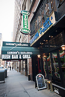 The Eamonn's Irish Bar & Grill   in Midtown in New York is seen on Saturday, March 5, 2011. In advance for St. Patrick's Day. (© Richard B. Levine)