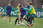 17.01.2020, Trainingsgelaende am wohninvest WESERSTADION,, Bremen, GER, 1.FBL, Werder Bremen Training ,<br /> <br /> <br />  im Bild<br /> <br /> Yuya Osako (Werder Bremen #08)<br /> Nuri Sahin (Werder Bremen #17)<br /> Simon Straudi (Werder Bremen #26)<br /> Joshua Sargent (Werder Bremen #19)<br /> Nick Woltemade (werder Bremen #41)<br /> <br /> Foto © nordphoto / Kokenge