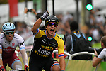 Dylan Groenewegen (NED) Lotto NL-Jumbo wins Stage 21 of the 104th edition of the Tour de France 2017, an individual time trial running 1.3km from Montgeron to Paris Champs-Elysees, France. 23rd July 2017.<br /> Picture: ASO/Bruno Bade | Cyclefile<br /> <br /> <br /> All photos usage must carry mandatory copyright credit (&copy; Cyclefile | ASO/Bruno Bade)
