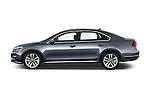 Car Driver side profile view of a 2016 Volkswagen Passat 3.6L-SEL-Premium-Auto 4 Door Sedan Side View