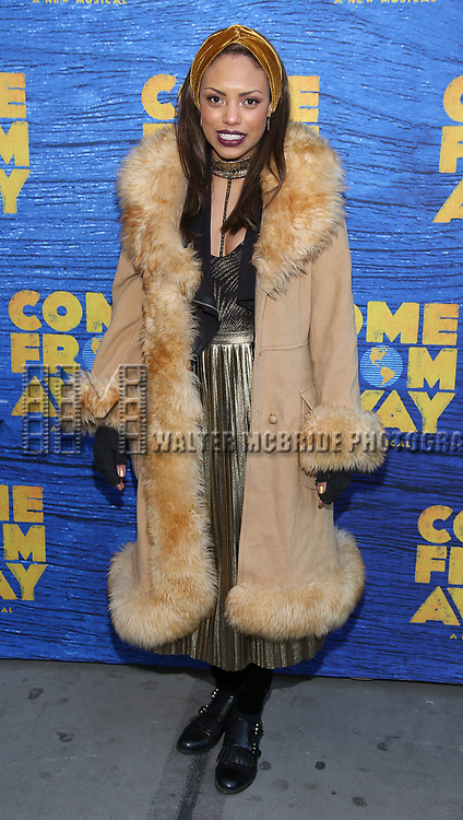 Jaime Lee Kirchner attends the Broadway Opening Night performance for 'Come From Away' at the Gerald Schoenfeld Theatre on March 12, 2017 in New York City.