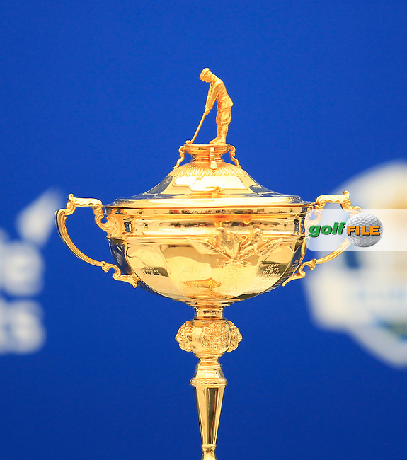 The Ryder cup at the announcement of the Ryder cup vice captains press conference during  round 2 of the 2016 BMW PGA Championship. Wentworth Golf Club, Virginia Water, Surrey, UK. 27/05/2016.<br /> Picture Fran Caffrey / Golffile.ie<br /> <br /> All photo usage must carry mandatory copyright credit (&copy; Golffile | Fran Caffrey)