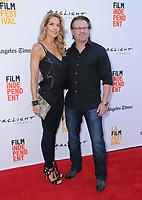 "17 June 2017 - Culver City, California - Ric Roman Waugh, Tanya Waugh. LA Film Festival Premiere of ""Shot Caller"" held at ArcLight Culver City in Culver City. Photo Credit: Birdie Thompson/AdMedia"