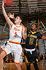 Michael O'Connell #5, Chaminade freshman, left, drives to the net during the Nassau-Suffolk CHSAA varsity boys basketball semifinals against St. Anthony's at LIU Post on Sunday, Feb. 26, 2017. Chaminade won by a score of 66-50.