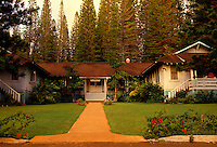 "Historic building """"Hotel Lanai"""" is situated among pine trees"