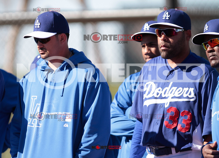 Adrian Gonzalez y Ramon Castro, LA, Dodgers