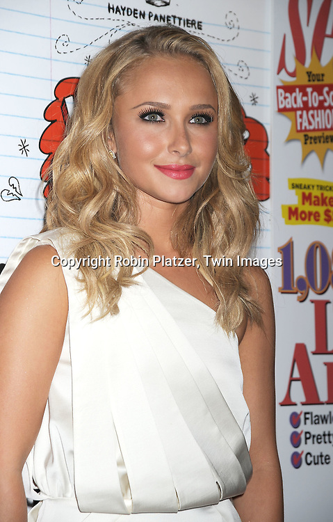 Hayden Panettiere, star of the movie in Andy and Deb white dress