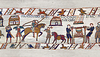11th Century Medieval Bayeux Tapestry - Scene 41 - Wadar Supervises Williams cooks