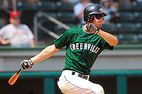 3 September 2007: Josh Reddick of the Greenville Drive, Class A South Atlantic League affiliate of the Boston Red Sox, in a game against the Asheville Tourists at West End Field in Greenville, S.C. Photo by:  Tom Priddy/Four Seam Images