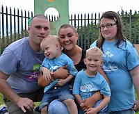 COPY BY TOM BEDFORD<br /> Pictured: Amy Jones (C) with husband Chris (L) and her three children, image taken from her open facebook page.<br /> Re: A dying mum's bucket list wish is to meet rock band the Stereophonics to thank them for their music.<br /> Lifelong fan Amy Jones, 26, put meeting the Welsh rockers top of her wish list ahead of renewing her wedding vows.<br /> Mother-of-three Amy was diagnosed with breast cancer two years ago and it has spread around her body.<br /> Relatives are now raising funds to help her tick off her bucket list in the time she has left. <br /> Her sister Kirsty Gulliford, 22, said: &quot;Meeting the Stereophonics is number one and I'm determined to make it happen.