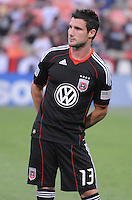 D.C. United midfielder Chris Pontius (13). D.C. United defeated The Vancouver Whitecaps FC 4-0 at RFK Stadium, Saturday August 13 , 2011.