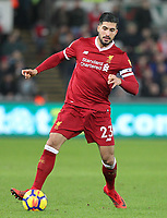 Emre Can of Liverpool during the Premier League match between Swansea City and Liverpool at the Liberty Stadium, Swansea, Wales on 22 January 2018. Photo by Mark Hawkins / PRiME Media Images.