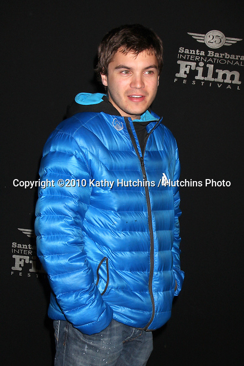 "Emile Hirsch.arriving at the ""180 Degree South""  World Premiere at the Santa Barbara International Film Festival.Arlington Theater.Santa Barbara, CA.February 10, 2010.©2010 Kathy Hutchins / Hutchins Photo...."