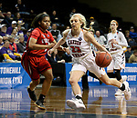 SIOUX FALLS, SD - MARCH 19: Tori Griffin #23 from Carson Newman drives to the basket against Jada Perkins #1 from Union during their quarterfinal game at the 2018 Elite Eight Women's NCAA DII Basketball Championship at the Sanford Pentagon in Sioux Falls, SD. (Photo by Dave Eggen/Inertia)(Photo by Dave Eggen/Inertia)