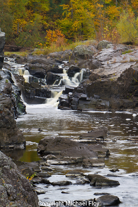 Water Falls with Fall Colors, Jay Cooke State Park.
