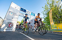 Picture by Allan McKenzie/SWpix.com - 06/05/2018 - Cycling - Maserati Human Race Sportive, Leeds, England - The Maserati sportive sets off.