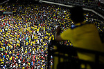 Fans attend the soccer match between Ecuador and Chile at the Citi-Field Stadium in New York, August 15, 2012. Photo by Eduardo Munoz Alvarez / VIEW.