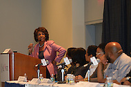 "September 23, 2011  (Washington, DC)   Representative Maxine Waters (D-CA) hosts the ""Young, Gifted and Black panel discussion during the 41st Annual Legislative Conference of the Congressional Black Caucus Foundation.   (Photo by Don Baxter/Media Images International)"