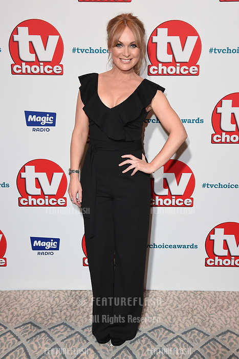 LONDON, UK. September 10, 2018: Michelle Hardwick at the TV Choice Awards 2018 at the Dorchester Hotel, London.<br /> Picture: Steve Vas/Featureflash