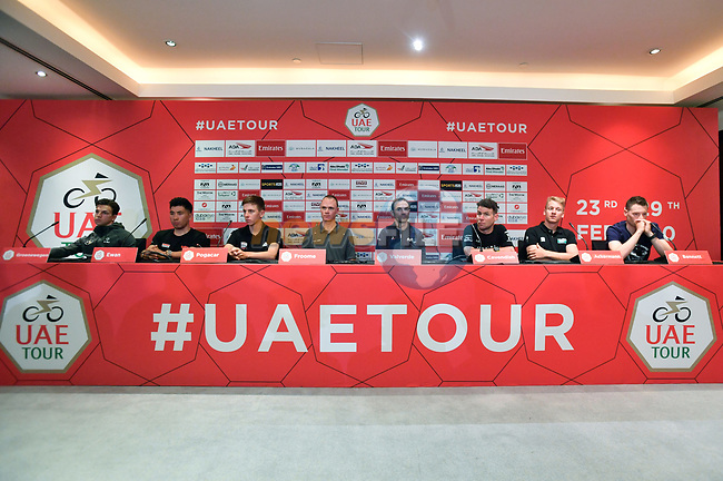 Top Riders press conference for the UAE Tour 2020 held at<br /> Westin Dubai Mina Seyahi Beach Resort and Marina. 22nd February 2020.<br /> Picture: LaPresse/Massimo Paolone   Cyclefile<br /> <br /> All photos usage must carry mandatory copyright credit (© Cyclefile   LaPresse/Massimo Paolone)
