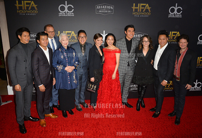 LOS ANGELES, CA. November 04, 2018: &quot;Crazy Rich Asians&quot; stars Harry Shum Jr., Ronny Chieng, Bradford Simpson, Lisa Lu, Nico Santos, Michelle Yeoh, Constance Wu, Henry Golding, Nina Jacobson, Jon M. Chu &amp; John Penotti  at the 22nd Annual Hollywood Film Awards at the Beverly Hilton Hotel.<br /> Picture: Paul Smith/Featureflash