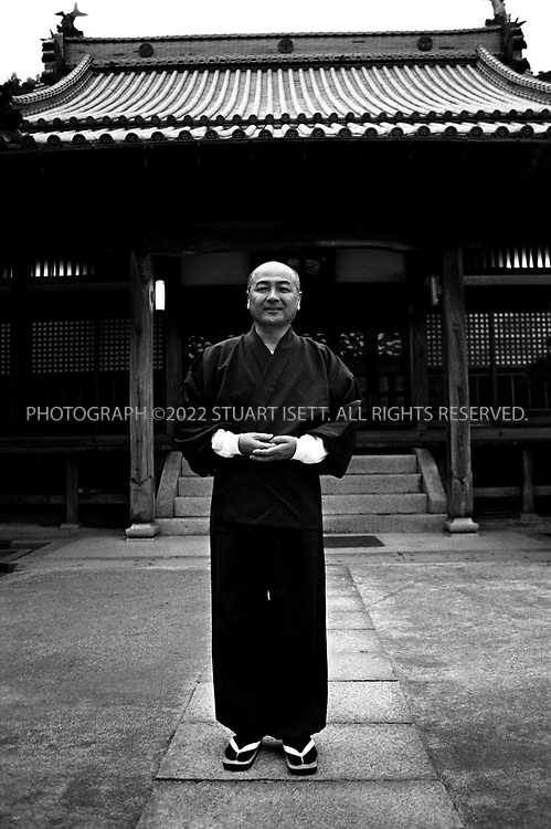 Towa, Japan..Reverand Shizuo Niiyama, bishop of Hakusei Ji Temple in Okikamuro district and  acommunity leader for issue involving the elderly...All photographs ©2003 Stuart Isett.All rights reserved.
