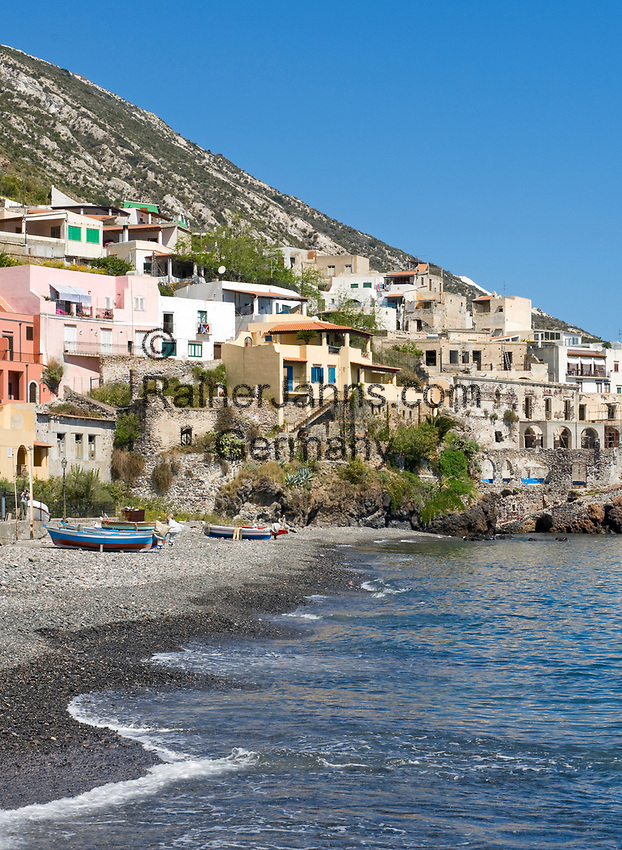 ITA, Italien, Sizilien, Liparischen Inseln, Hauptinsel Lipari: Blick auf Canneto | ITA, Italy, Sicily, Aeolian Islands or Lipari Islands, main island Lipari: view at Canneto