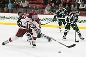 Geoff Ferguson (Dartmouth - 4), Jimmy Vesey (Harvard - 19), Tim O'Brien (Dartmouth - 8) - The Harvard University Crimson tied the visiting Dartmouth College Big Green 3-3 in both team's first game of the season on Saturday, November 1, 2014, at Bright-Landry Hockey Center in Cambridge, Massachusets.