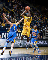 Afure Jemerigbe of California shoots the ball during the game against UCLA at Haas Pavilion in Berkeley, California on January 20th, 2013.   California defeated UCLA, 70-65.