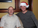 Chris hanlon and Andy Cooney pictured at the Integral christmas party at McHugh's. Photo: Colin Bell/pressphotos.ie