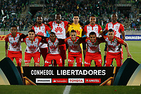 VALPARAISO - CHILE - 13 - 02 - 2018: Los jugadores de Independiente Santa Fe, posan para una foto, durante partido de ida entre Santiago Wanderers (CHL) y el Independiente Santa Fe (COL), de la fase 3 llave 1 por la Copa Conmebol Libertadores 2018, jugado en el estadio Bicentenario Elias Figueroa de la ciudad de Valparaiso. / The players of Independiente Santa Fe, pose for a photo, during a match of the first leg between Santiago Wanderers (CHL) and Independiente Santa Fe (COL), of the 3rd phase key 1 for the Copa Conmebol Libertadores 2018 at the Bicentenario Elias Figueroa Stadium in Valparaiso City, Photo: VizzorImage / Raul Zamora / Cont / Photosport