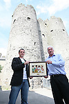 Geoff Fitzpatrick with John O'Shea at the Presentation of proceeds from the Boyne 10k run to GOAL...Photo NEWSFILE/Jenny Matthews.(Photo credit should read Jenny Matthews/NEWSFILE)....This Picture has been sent you under the condtions enclosed by:.Newsfile Ltd..The Studio,.Millmount Abbey,.Drogheda,.Co Meath..Ireland..Tel: +353(0)41-9871240.Fax: +353(0)41-9871260.GSM: +353(0)86-2500958.email: pictures@newsfile.ie.www.newsfile.ie.FTP: 193.120.102.198.