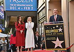 Irina Menzel, Kristen Bell -Star WofF 039 Mayor Eric Garcetti ,  Kristen Bell And Idina Menzel  Honored With Stars On The Hollywood Walk Of Fame on November 19, 2019 in Hollywood, California