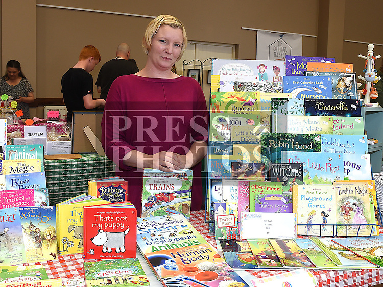 Vicky Gregory at her 'Vicky's Little Bookworms' stand at the monthly Cottage Market held in St. Peter's Parish Hall. Photo:Colin Bell/pressphotos.ie