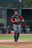 AZL Diamondbacks catcher Douglas Lanza (26) during an Arizona League game against the AZL White Sox at Camelback Ranch on July 12, 2018 in Glendale, Arizona. The AZL Diamondbacks defeated the AZL White Sox 5-1. (Zachary Lucy/Four Seam Images)