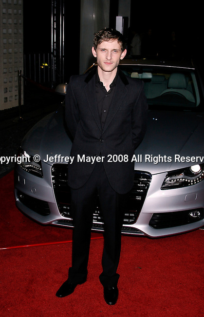 "HOLLYWOOD, CA. - November 09: Actor Jamie Bell arrives at the 2008 AFI Film Festival Presents ""Defiance"" at The ArcLight Cinemas on November 9, 2008 in Hollywood, California."