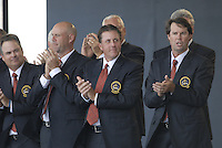 USA Team members, l-r J.B.Holmes, Stewart Cink, Phil Mickelson and Captain Paul Azinger, during the opening ceremony on Practice Day2 of the Ryder Cup at Valhalla Golf Club, Louisville, Kentucky, USA, 18th September 2008 (Photo by Eoin Clarke/GOLFFILE)