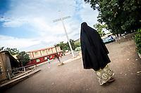 FATEBENEFRATELLI SAINT JEAN DE DIEU HOSPITAL IN TANGUIETA IN THE PICTURE A MUSLIM WOMAN WALKING IN COURTYARD HOSPITAL PHOTO BY MATTEO BIATTA