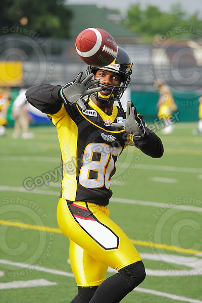June 26, 2008; Hamilton, ON, CAN; Hamilton Tiger-Cats wide receiver Willie Ponder (80). CFL football - Montreal Alouettes defeated the Hamilton Tiger-Cats 33-10 at Ivor Wynne Stadium. Mandatory Credit: Ron Scheffler-www.ronscheffler.com. Copyright (c) Ron Scheffler