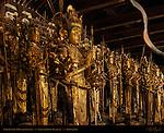 Senju Kannon 1000-armed Kannon Statues, Hinoki Japanese Cypress, 12th century, Sanjusangendo Rengeo-in, Kyoto, Japan