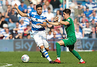 Preston North End's Josh Harrop vies for possession with Queens Park Rangers' Massimo Luongo<br /> <br /> Photographer Andrew Kearns/CameraSport<br /> <br /> The EFL Sky Bet Championship - Queens Park Rangers v Preston North End - Loftus Road - London<br /> <br /> World Copyright &copy; 2018 CameraSport. All rights reserved. 43 Linden Ave. Countesthorpe. Leicester. England. LE8 5PG - Tel: +44 (0) 116 277 4147 - admin@camerasport.com - www.camerasport.com