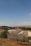 The Golan Heights. Kibbutz Marom Golan at the foothill of Mount Bental