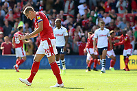 Nottingham Forest's Michael Dawson celebrates after his side make it 1-1<br /> <br /> Photographer David Shipman/CameraSport<br /> <br /> The EFL Sky Bet Championship - Nottingham Forest v Preston North End - Saturday 31st August 2019 - The City Ground - Nottingham<br /> <br /> World Copyright © 2019 CameraSport. All rights reserved. 43 Linden Ave. Countesthorpe. Leicester. England. LE8 5PG - Tel: +44 (0) 116 277 4147 - admin@camerasport.com - www.camerasport.com