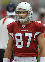 Aug 18, 2007; Glendale, AZ, USA; Arizona Cardinals wide receiver Sean Morey (87) against the Houston Texans at University of Phoenix Stadium. Mandatory Credit: Mark J. Rebilas-US PRESSWIRE Copyright © 2007 Mark J. Rebilas