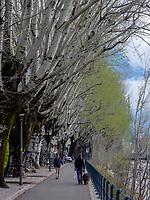 Passerpromenade in Meran-Merano, Bozen &ndash; S&uuml;dtirol, Italien<br /> province Bozen-South Tyrol, Italy