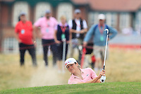 Celine Herbin (FRA) in a bunker on the 2nd during Round 3 of the Ricoh Women's British Open at Royal Lytham &amp; St. Annes on Saturday 4th August 2018.<br /> Picture:  Thos Caffrey / Golffile<br /> <br /> All photo usage must carry mandatory copyright credit (&copy; Golffile | Thos Caffrey)