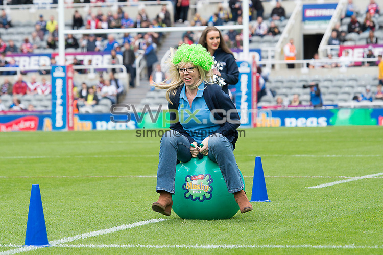Picture by Allan McKenzie/SWpix.com - 20/05/2017 - Rugby League - Dacia Magic Weekend - St James' Park, Newcastle, England - The brief, Batchelors, Space Hopper Derby.