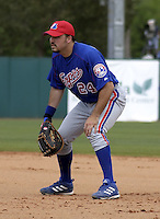 March 26, 2004:  First baseman Nick Johnson of the Montreal Expos (Washington Nationals) organization during Spring Training at Osceola County Stadium in Kissimmee, FL.  Photo copyright Mike Janes/Four Seam Images