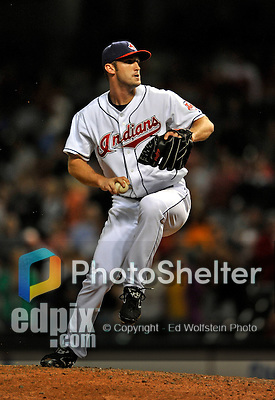 12 September 2008: Cleveland Indians' closing pitcher Jensen Lewis on the mound against the Kansas City Royals at Progressive Field in Cleveland, Ohio. The Indians defeated the Royals 12-5 in the first game of their 4-game series...Mandatory Photo Credit: Ed Wolfstein Photo